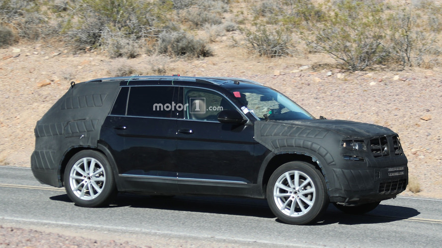 VW Teramont spied almost ready for its debut later in 2016