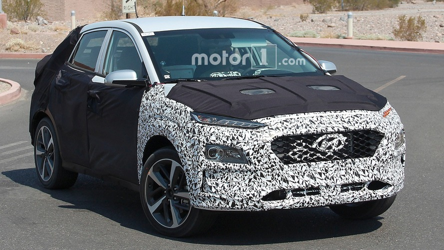 Hyundai's compact crossover spied testing in the desert