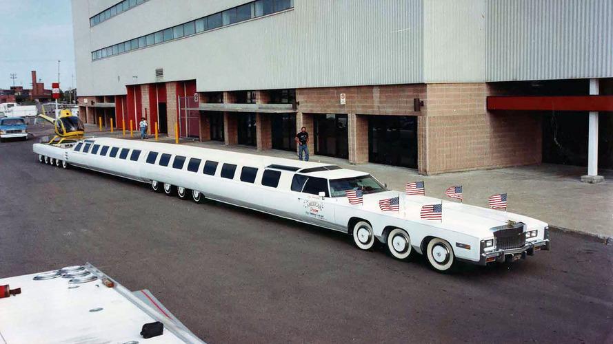 Das längste Auto der Welt ist ein Cadillac Eldorado mit 26 Rädern