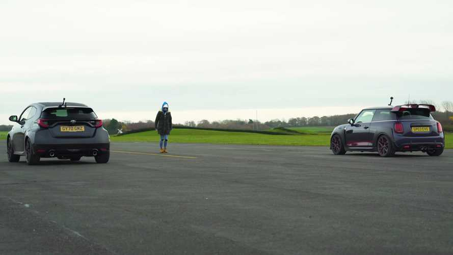 Toyota GR Yaris drag races Mini JCW GP in pocket rocket fight