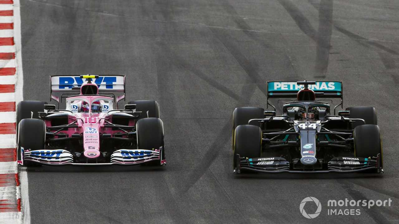 Lewis Hamilton and Lance Stroll at Portuguese GP 2020