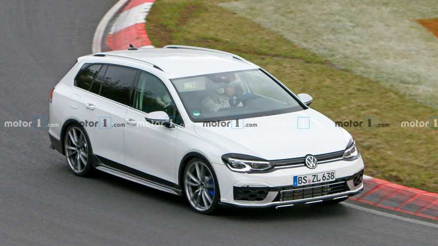 2021 VW Golf R Wagon Spied At The Nurburgring Looking A Bit Weird
