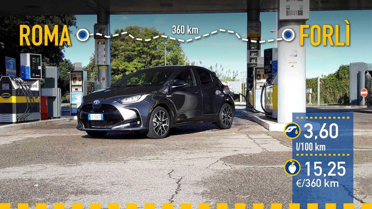Toyota Yaris Hybrid 2020, prueba de consumo