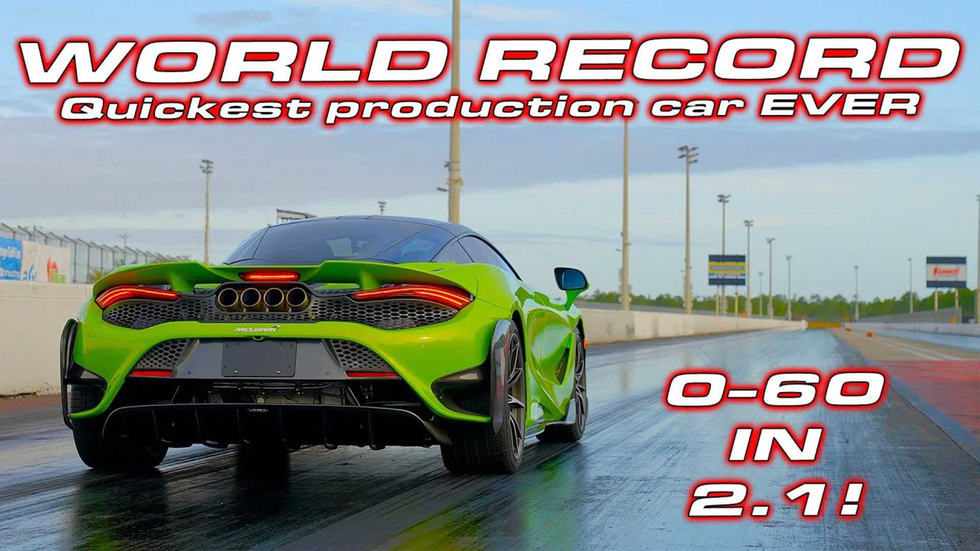 Stock McLaren 765LT With Track Tires Does Quarter Mile In 9.33 Seconds