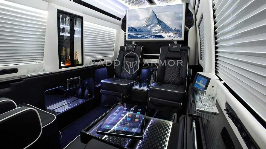 This Sprinter van is actually a mobile panic room on wheels