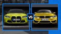 Alter und neuer BMW M4 im direkten Vergleich: F82 vs. G82
