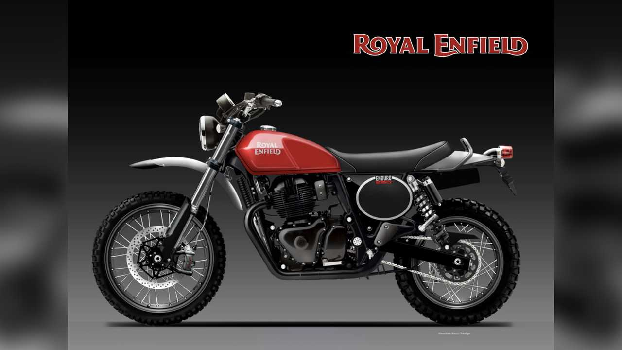 Royal Enfield 650 Enduro Render by Oberdan Bezzi
