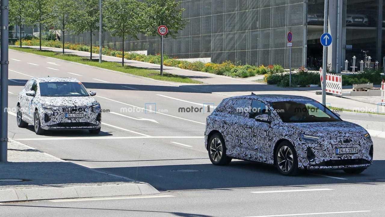 Новые шпионские фото Audi Q4 e-tron, вид спереди