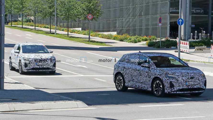 Шпионы поймали сразу 2 прототипа Audi Q4 e-tron