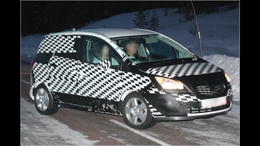 Geheimnis gelüftet: Der neue Opel Meriva bei Tests erwischt