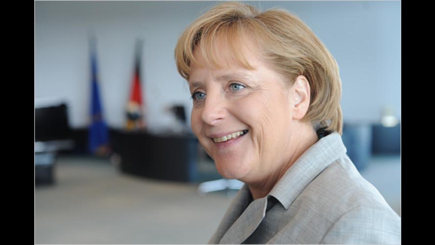 Richtungsfrage: Kanzlerin und Kandidat zur Verkehrspolitik