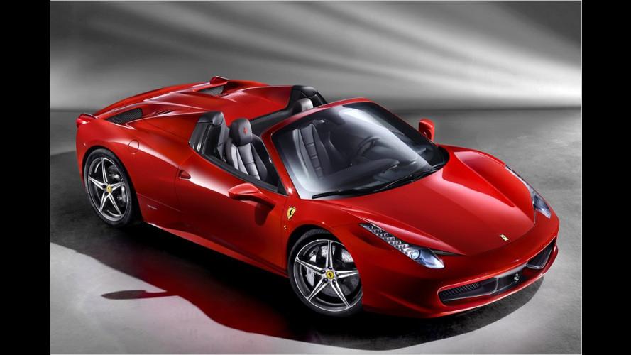 Ferrari 458 Spider auf der IAA 2011 präsentiert