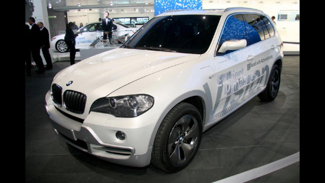 BMW Vision EfficientDynamics: Der X5 als Mild-Hybrid. Unter der Haube: Der 2,0-Liter Twin-Turbo-Diesel aus dem 123d