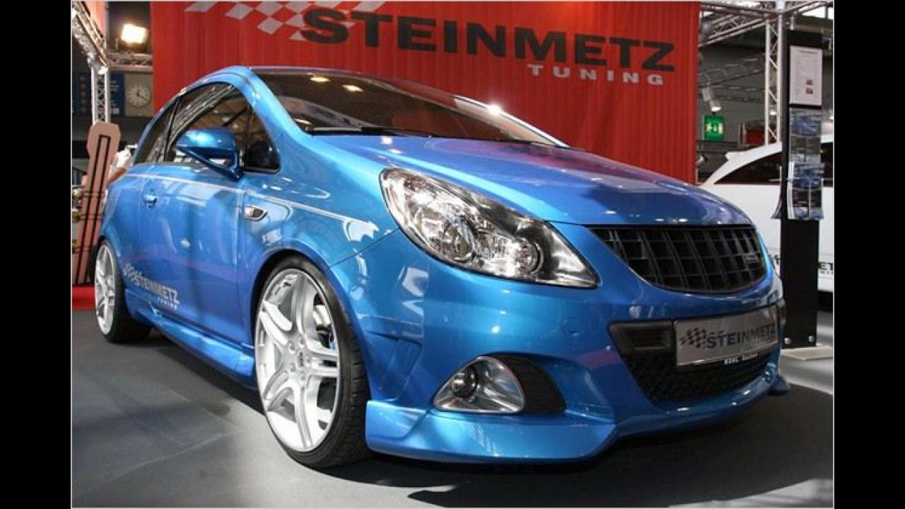 Nach dem Umbau von Steinmetz leistet der Opel Corsa OPC 202 PS