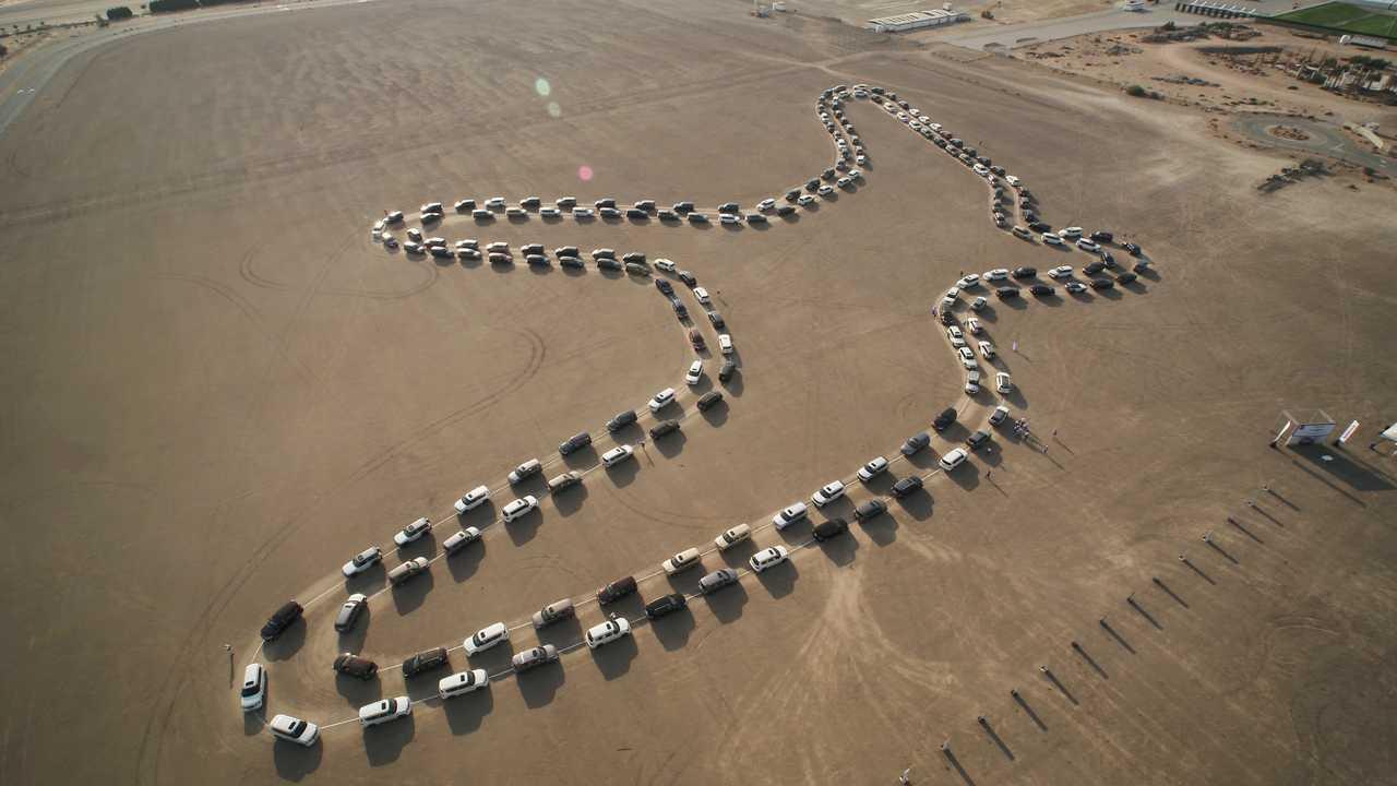Nissan Patrol Largest Synchronized Car Dance Record