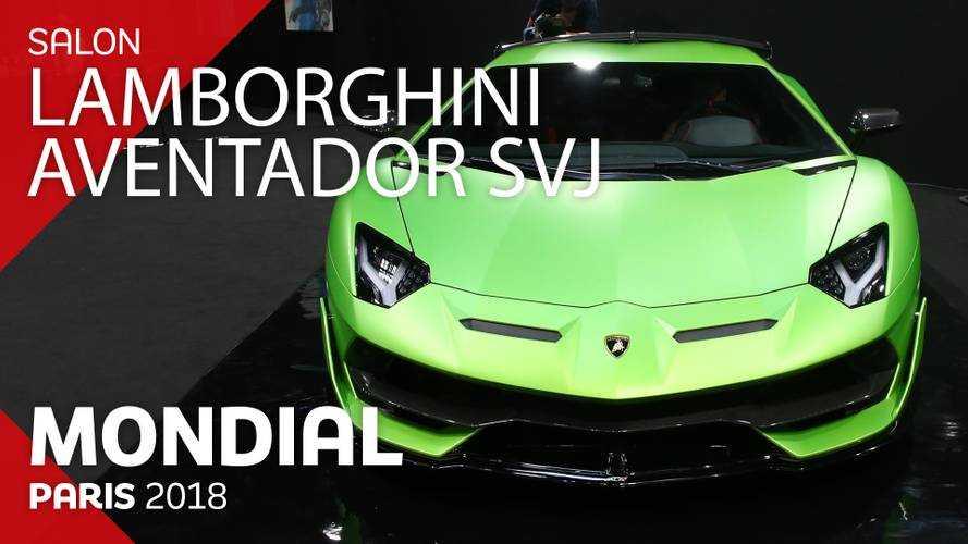 VIDÉO - La Lamborghini Aventador SVJ en direct du Mondial 2018