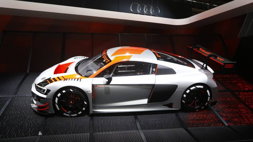 Audi R8 LMS GT3 2019, en salón de Paris