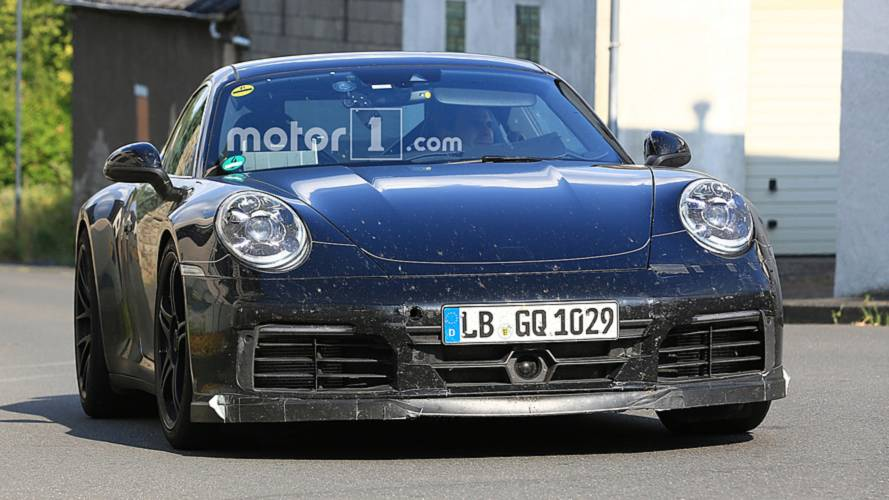 Next Porsche 911 GTS Spied Up Close Showing Sporty Upgrades