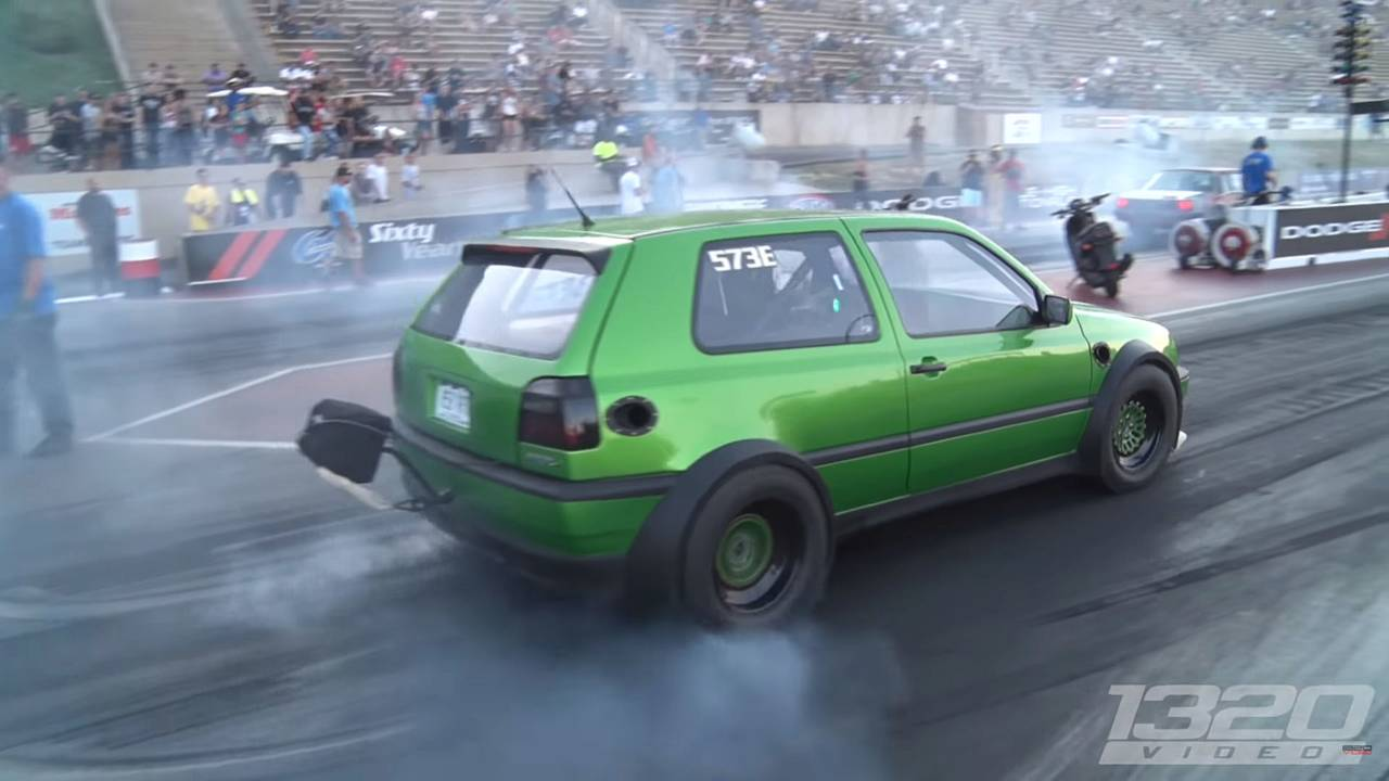 This Insane VW Golf GTI VR12 Has Two Engines, Makes 1,600 HP