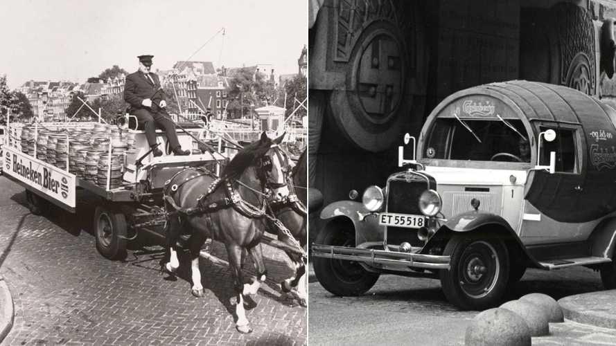DIAPORAMA - 10 anciens véhicules de transport de bière