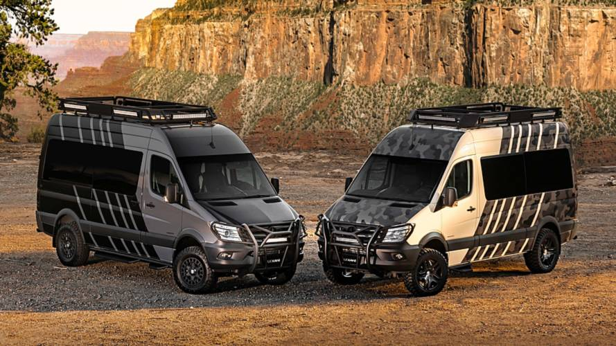 Sprinter-based Lexani camper goes off-road with a touch of luxury