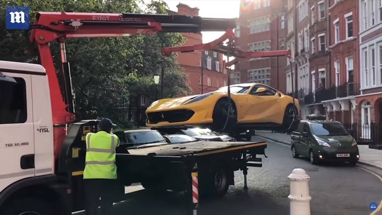 Ferrari 812 Superfast Impounded In London