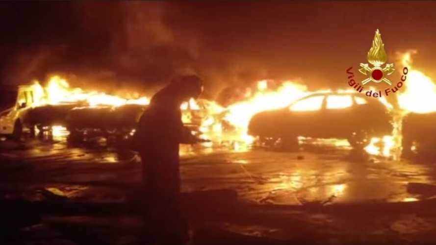 Des centaines de Maserati brûlées en Italie suite aux intempéries