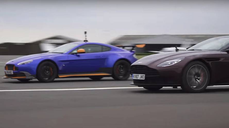 Aston Martin Vantage GT8 Duels DB11 In Drag Race
