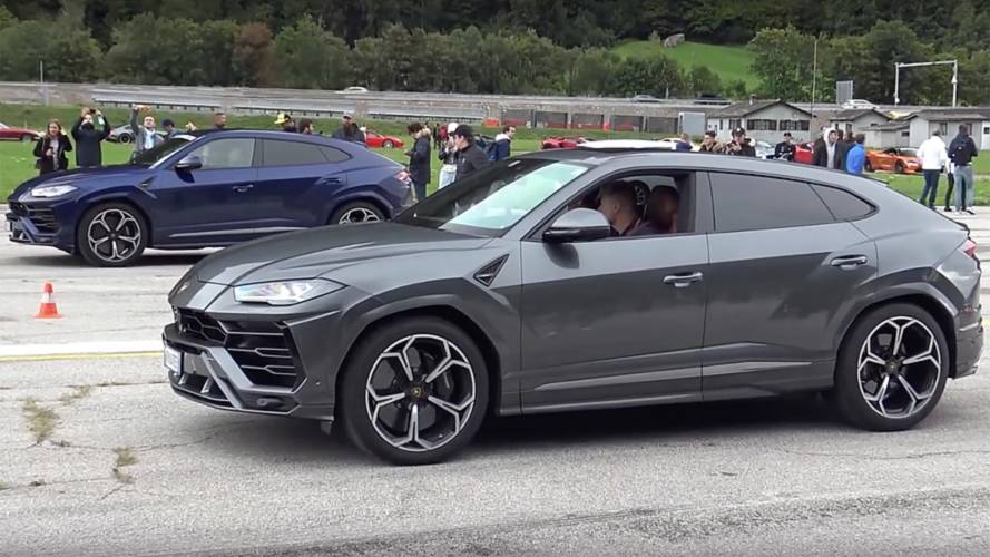 Lamborghini Urus Drag Races Another Urus, Aventador, And Huracan