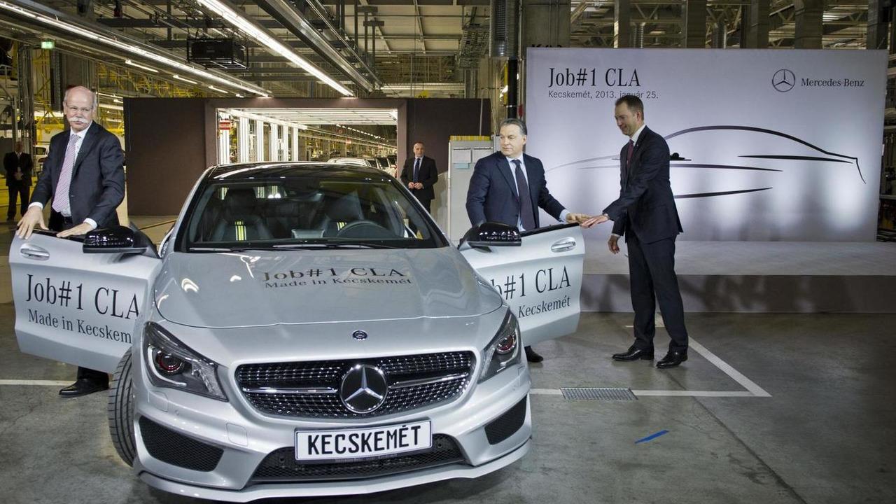 First Mercedes-Benz CLA produced at Kecskemét factory