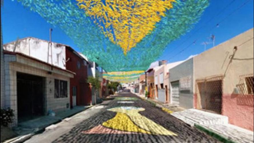 Mondiali 2014: il Brasile dipinge le strade