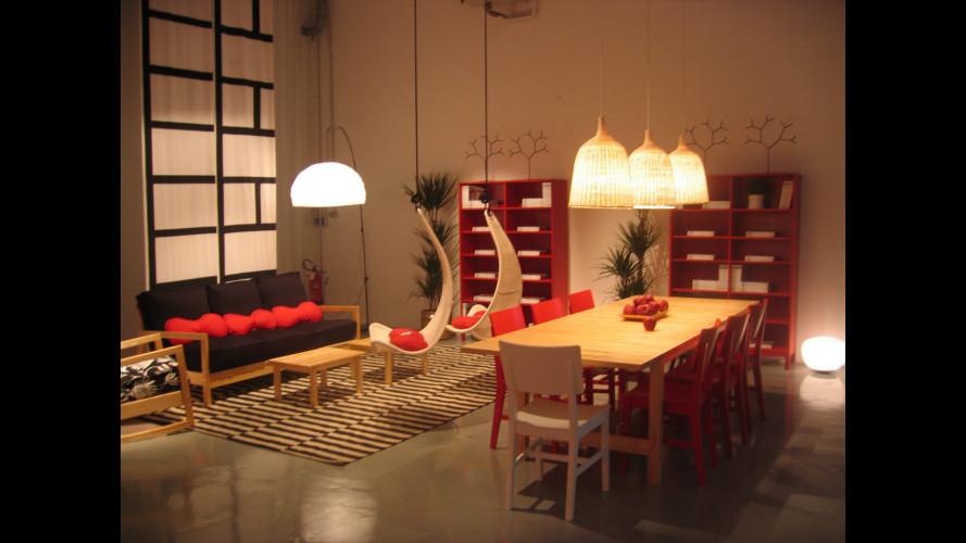 Un salotto IKEA in una Dacia Logan MCV