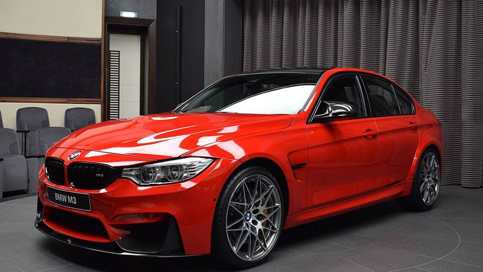 Bmw M3 With Competition Package And Ferrari Red Paint 1742367