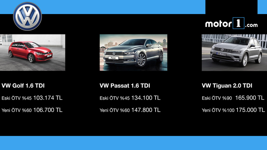 ÖTV'den etkilnen VOLKSWAGEN modelleri