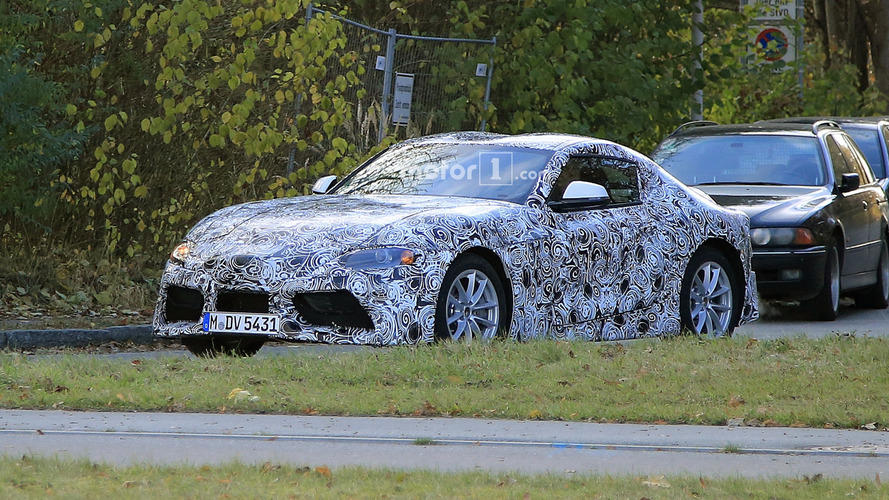 2018 Toyota Supra sheds some camo to reveal more details