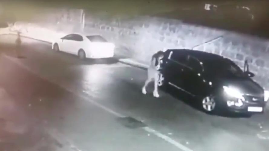 İsrail'de gerçekleştirilen otomobil hırsızlığı yalnızca 50 saniye sürüyor