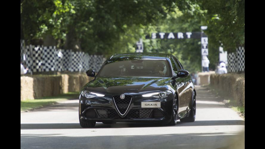 Alfa Giulia Quadrifoglio, con lei sulla salita di Goodwood [VIDEO]
