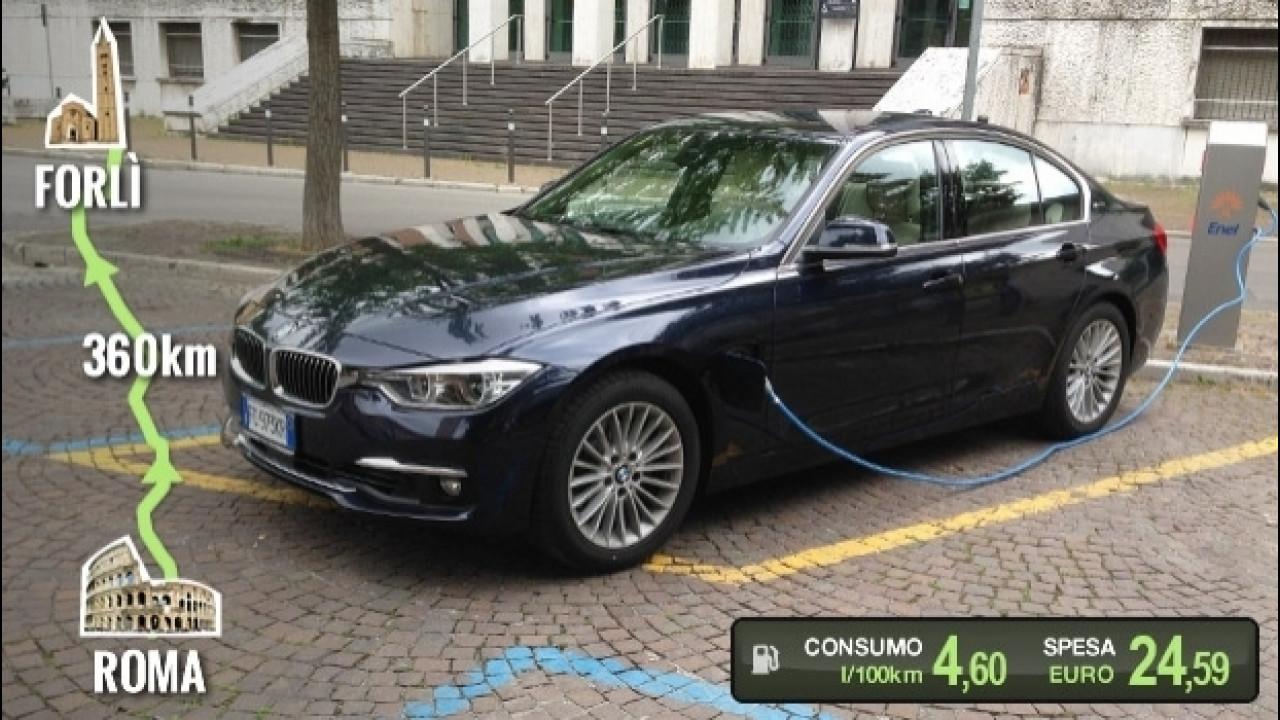 [Copertina] - BMW 330e, la prova dei consumi reali