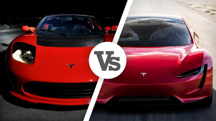 Tesla Roadster, due rivoluzionarie a confronto