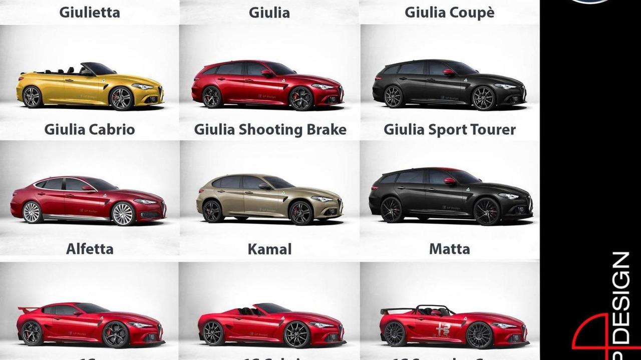 Alfa Romeo future lineup rendering / LP Design