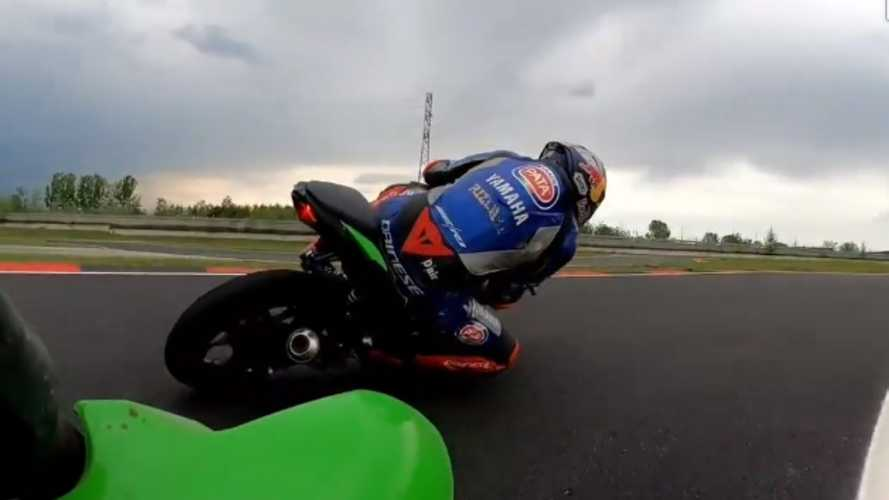 WSBK: la quarantena di Razgatlioglu… In kartodromo [VIDEO]