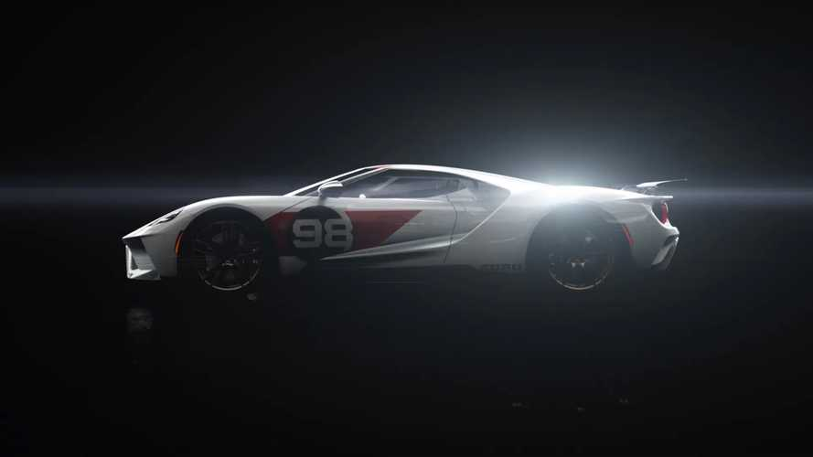 Ford GT Heritage Edition teased, reveal set for Sunday