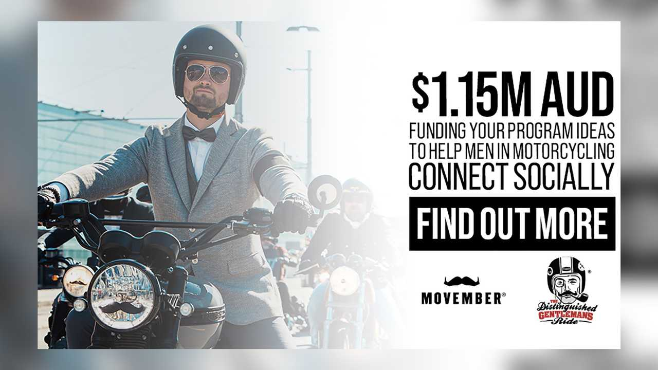 Movember And Distinguished Gentleman's Ride Join Forces