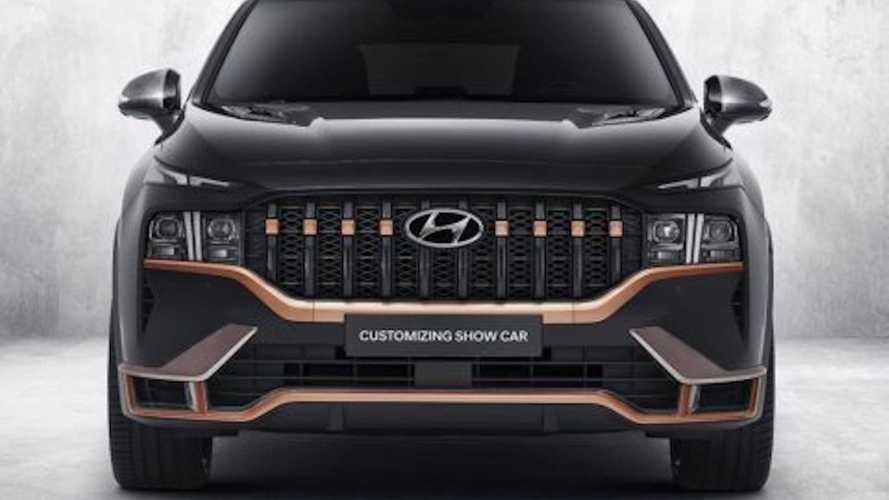 Hyundai Santa Fe 2020 con N Performance Parts: imagen deportiva