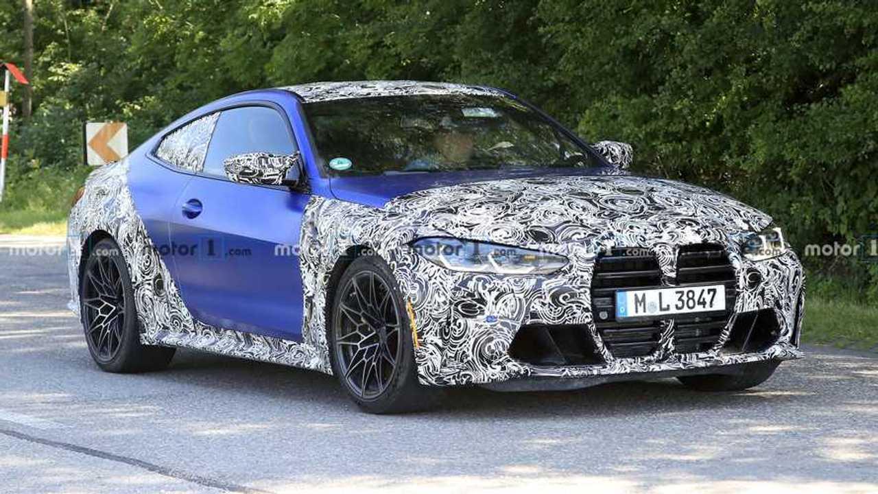 2021 BMW M4 new spy photo (front three-quarters)