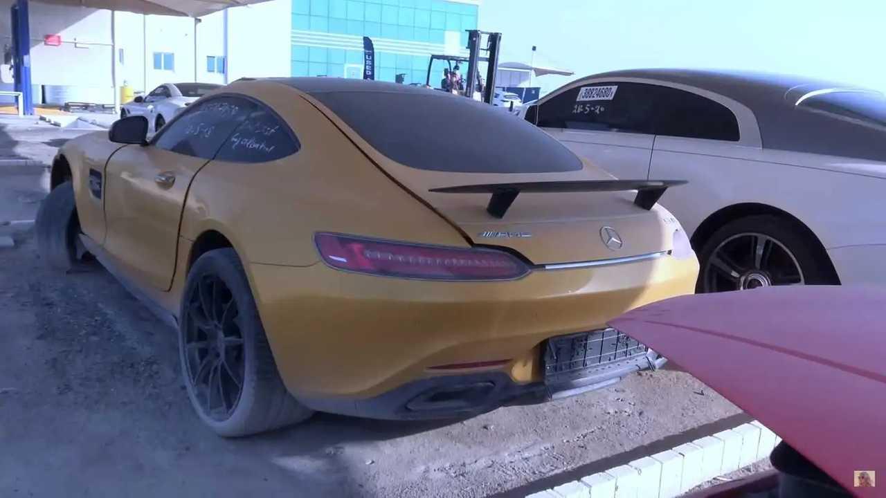Giant Scrapyard In Dubai Is Chock Full Of High End Cars