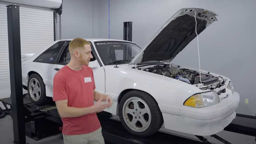 1989 Ford Mustang on the dyno