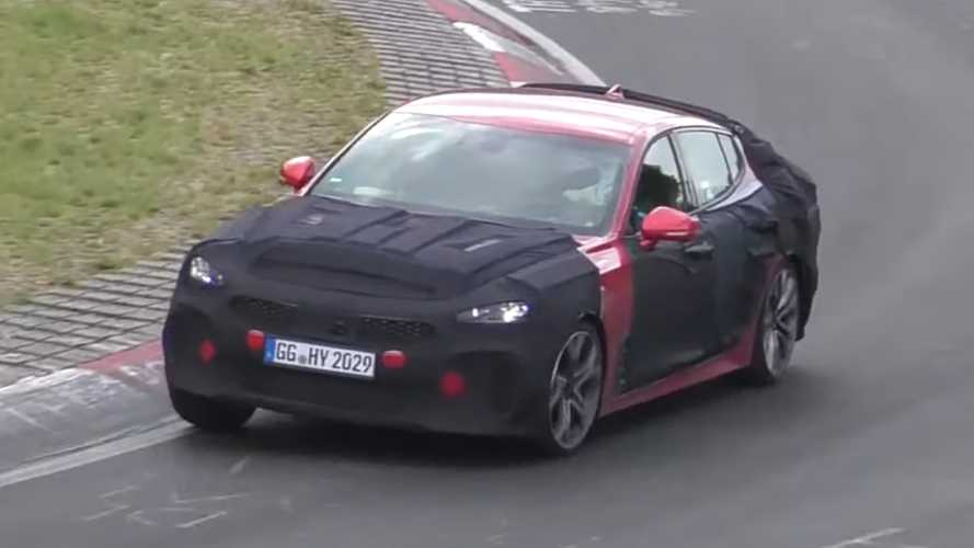2021 Kia Stinger GT Spied Rocketing Around The Nurburgring