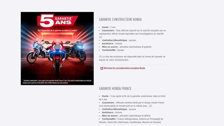 Garantie Honda Moto France