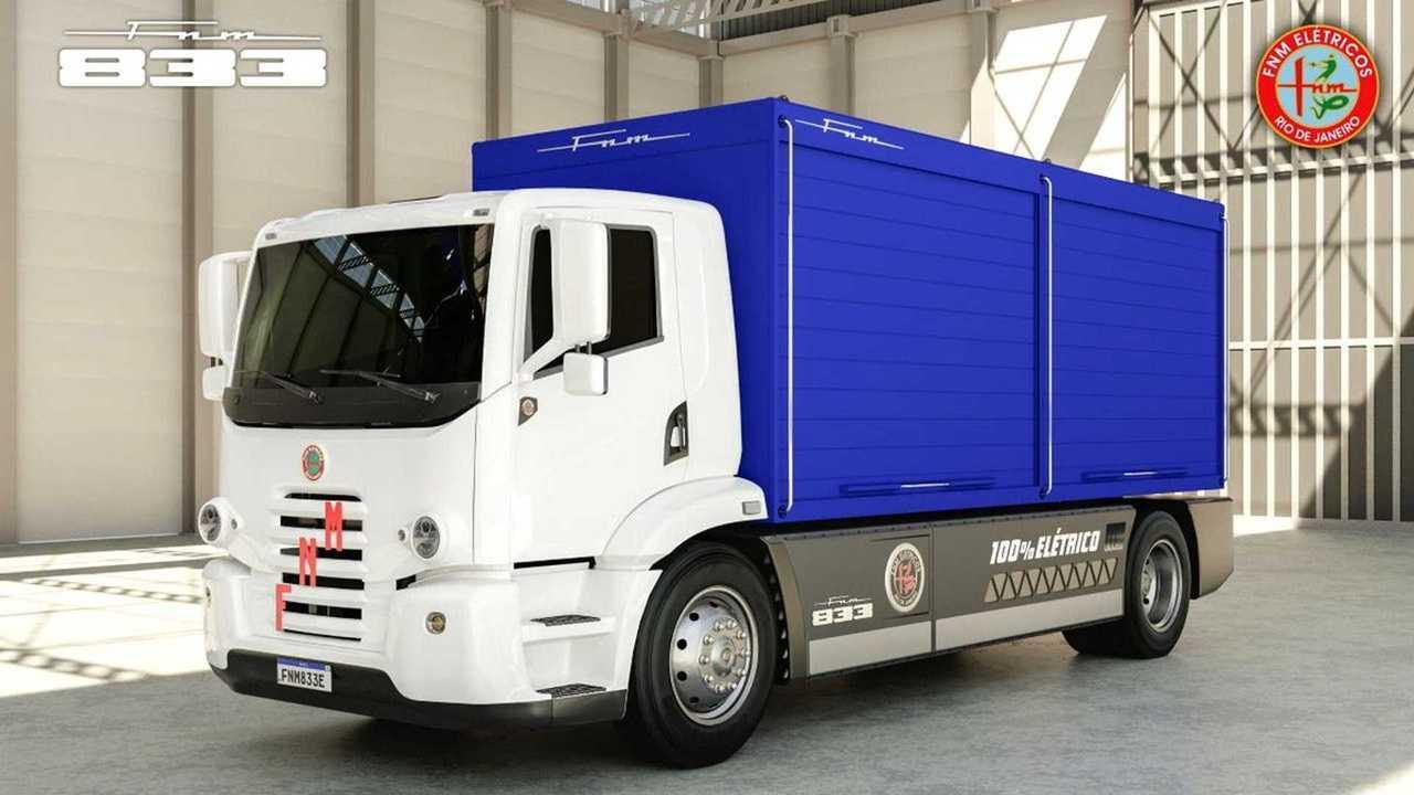 FNM - caminhão elétrico - 1